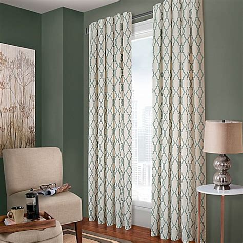 white back tab curtain panels buy designer s select claudia 95 inch back tab window