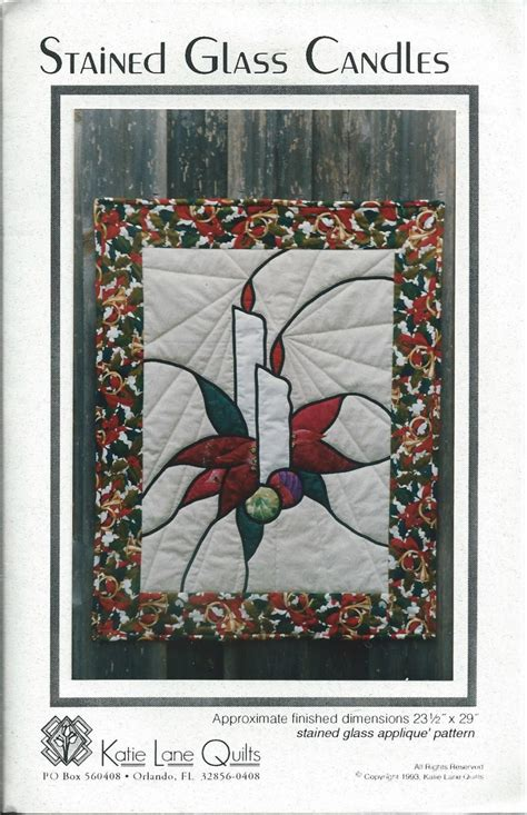 candlestick quilt pattern stained glass candle quilting pattern by katie lane quilts