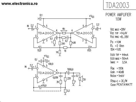 Ic Tda 2003 Ic St Audio Lifier tda2003 schematic diagram 10w car radio audio lifier