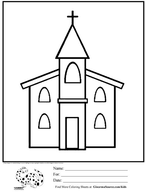 Church Coloring Pages To Download And Print For Free Church Colouring Pages