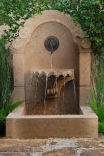 backyard wall fountains wall courtyard