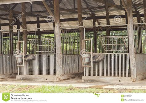 scheune leer empty stable individual stalls on both sides royalty