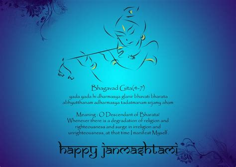 Sanskrit Birthday Wishes Quotes Best 25 Happy Janmashtami Image Ideas On Pinterest