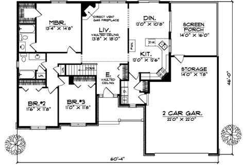 birney ranch home plan 016d 0002 house plans and more 3 bedroom ranch house plans home everydayentropy com