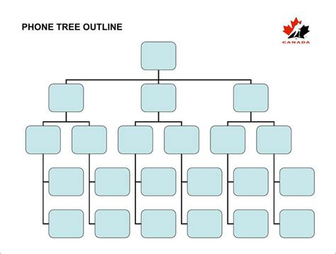 printable phone tree template download free premium