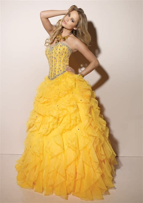 Wedding Dress Yellow by Fantastic Wedding Dresses Designs With A Colorful Model