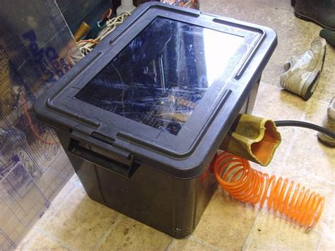 How To Make A Blast Cabinet by Grit Blasting Cabinet
