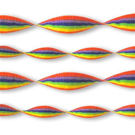 Snowflake Wall Stickers rainbow crepe paper streamer fun party supplies