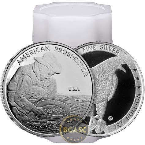 1 oz silver rounds 999 buy 1 oz silver prospector rounds by jet bullion 999
