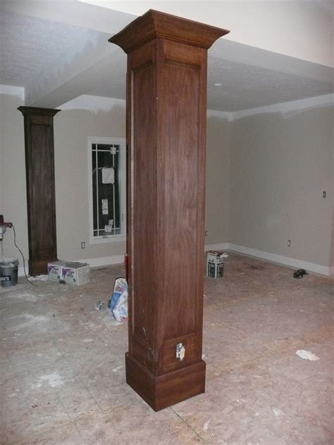 interior pillars exquisite wood trim stain square interior columns with grey wall interior painted as inspiring