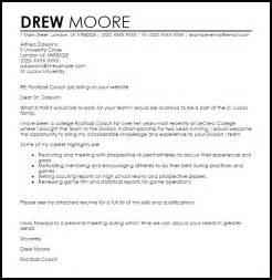 Basketball Coach Cover Letter by Football Coach Cover Letter Sle Letter Sles Livecareer