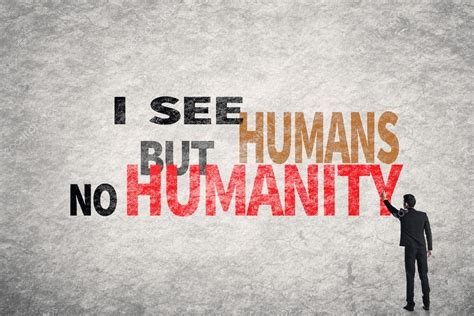 no walls text on wall i see humans but no humanity stock photo