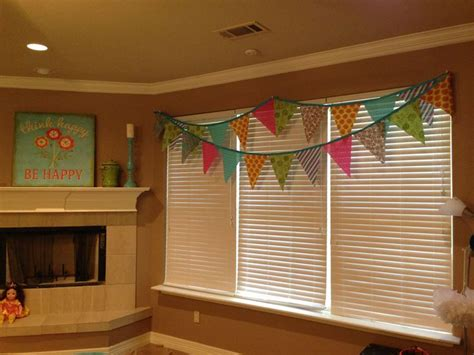 girls game room flag banner valance  house ideas
