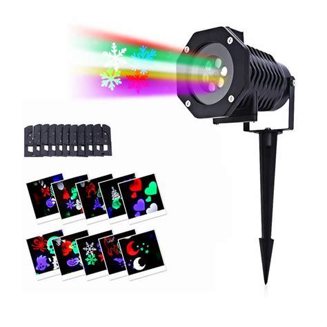 1x Waterproof Outdoor 10 Slides Led Landscape Light Garden Lights Projector With 16 Slides