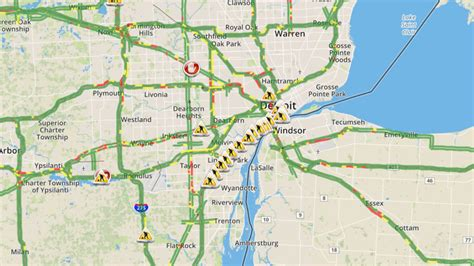 detroit traffic map metro detroit traffic conditions check map closures