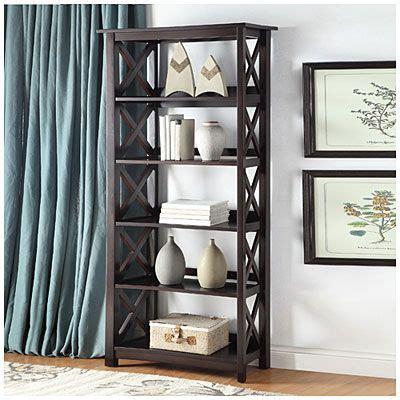 big lots 5 shelf bookcase 72 quot espresso open back 5 shelf bookcase at big lots