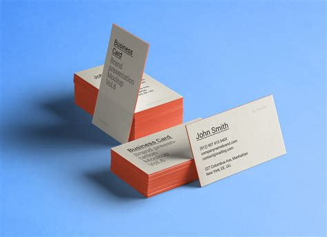 business card presentation template psd free thick business card mockup psd mockups