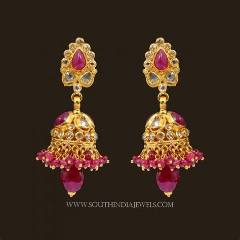 light weight gold earrings designs with price earrings designs in gold jhumka with weight light weight