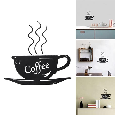Coffee Cup Decoration Kitchen by Diy Removable Coffee Cup Quote Word Decal Vinyl Home