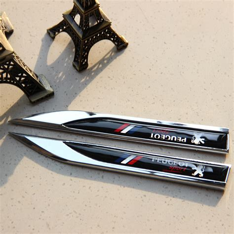 Metal Car Covers For Sale Automobiles For Peugeot 3d Metal Car Stickers Flag
