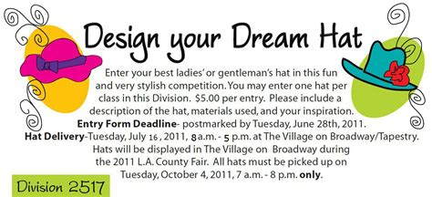 design competition announcement hatstruck couture millinery los angeles county fair