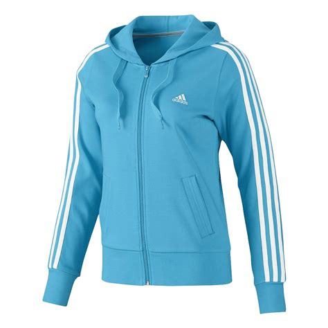 Blue Zip adidas essentials s 3 stripe zip sport hoodie track jacket blue black ebay