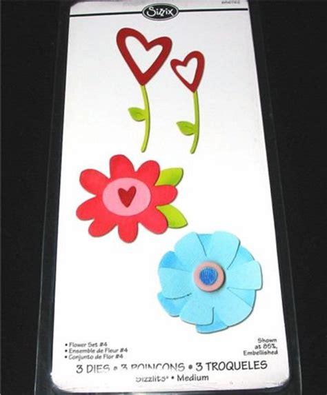 sizzix sizzlits doodle dies flower set flower die set 4 656762 flowers sizzix sizzlits