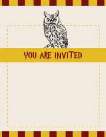 harry potter invitations theruntime
