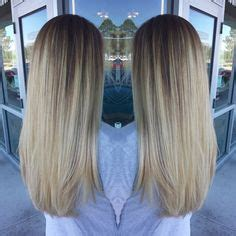middle parts summer highlights  blonde hair  pinterest