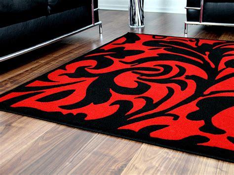 teppich rot schwarz weiß designer teppich schwarz rot barock teppiche