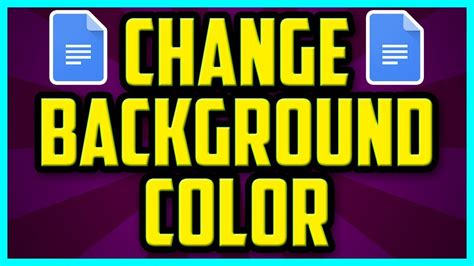 docs background color how to change the background color in docs fast