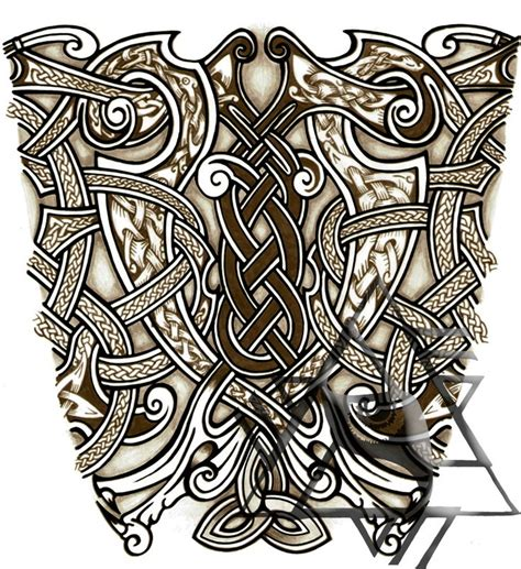 traditional viking tattoo designs nordic sleeve ideas sleeve design