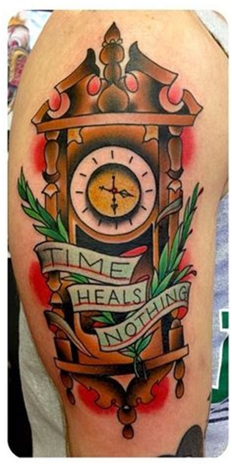 time heals everything tattoo time heals nothing