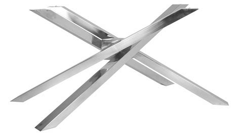 stainless steel table bases dining modern garrison rectangle dining table base stainless