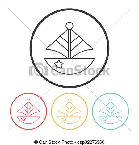 toy boat icon clip art vector of toy boat icon csp32276360 search