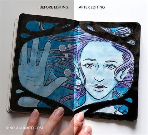 sketchbook editing how to take great sketchbook photos nela dunato design