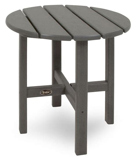 Composite Patio Table Trex Outdoor Furniture Cape Cod 18 Quot Side Table Food And Beverage Cape Cod And