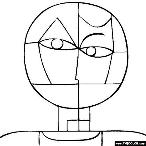 paul klee senecio coloring page artists school