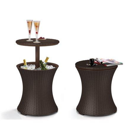 keter pacific cool bar rattan style patio beverage cooler