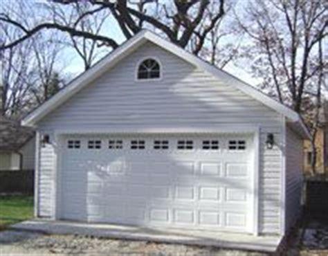 20x24 1 car detached garage plans download and build two car garage plan 560 1 20 x 28 by behm design