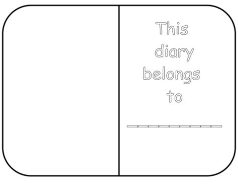 template ks1 diary template by white lilly2 teaching resources tes