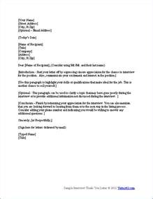 Thank You Letter After Interview Good Idea Free Interview Thank You Letter Template Samples