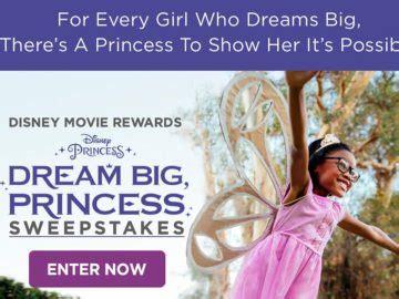 Disney Princess Sweepstakes - disney movie rewards dream big princess sweepstakes