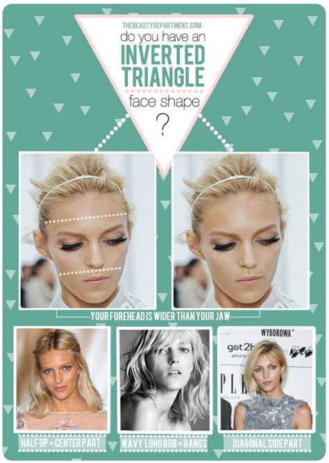 inverted triangle hairstyles hair talk inverted triangle face shape bob bangs an