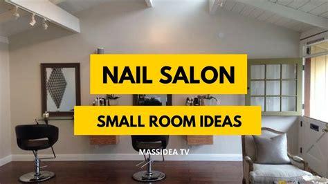 cute small space nail salon room set  ideas youtube