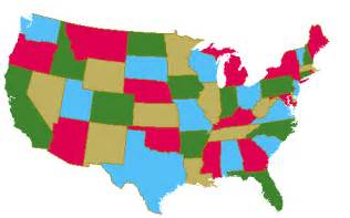 colored united states map bivariate splines and the four color map problem