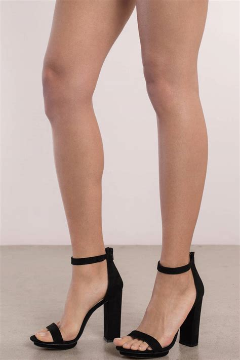 High Heel penelope black ankle heels tobi