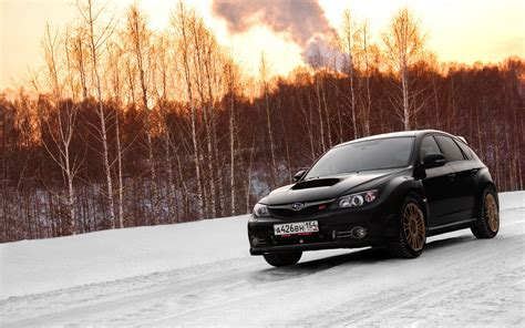 subaru impreza in snow subaru impreza wrx on snow hd wallpaper