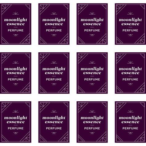 Label Templates Perfume Label Template
