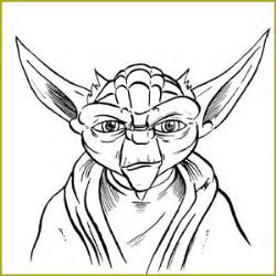Yoda Drawing Outline yoda outline pictures to pin on pinsdaddy